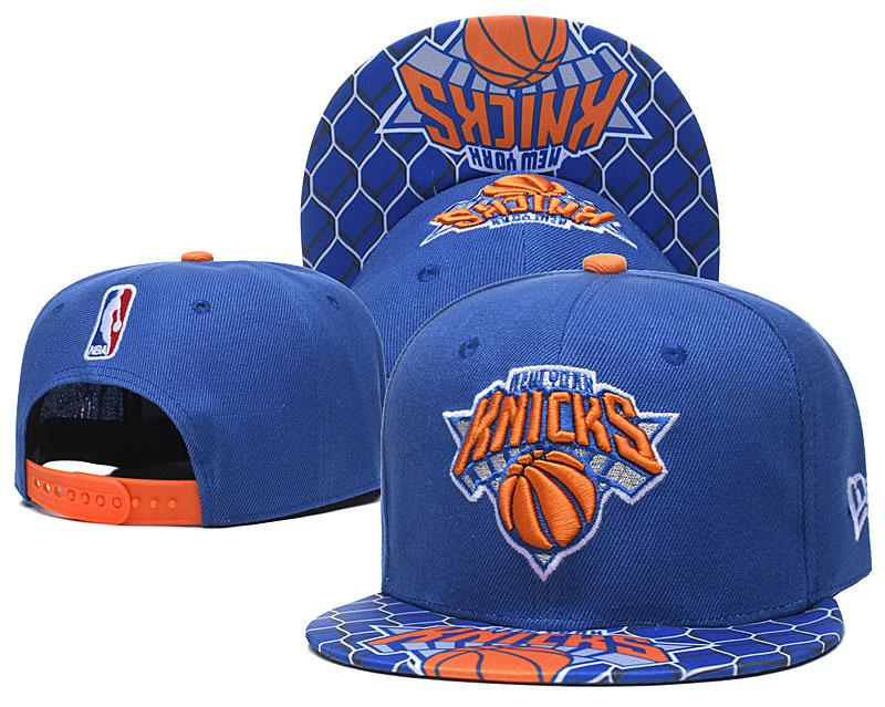 Knicks Team Logo Blue Adjustable Hat TX