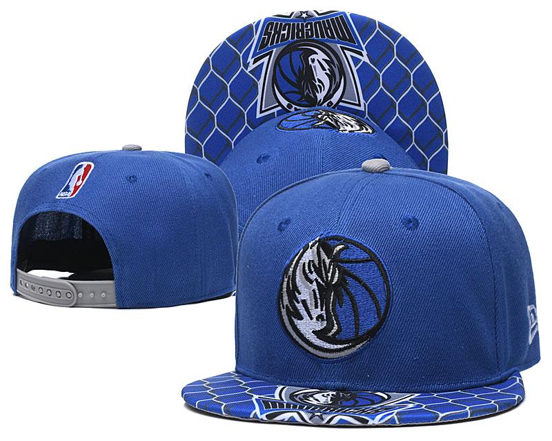 Mavericks Team Logo Blue Adjustable Hat TX