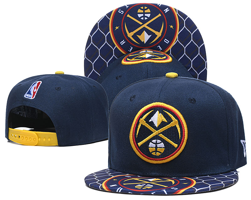Nuggets Team Logo Navy Adjustable Hat TX