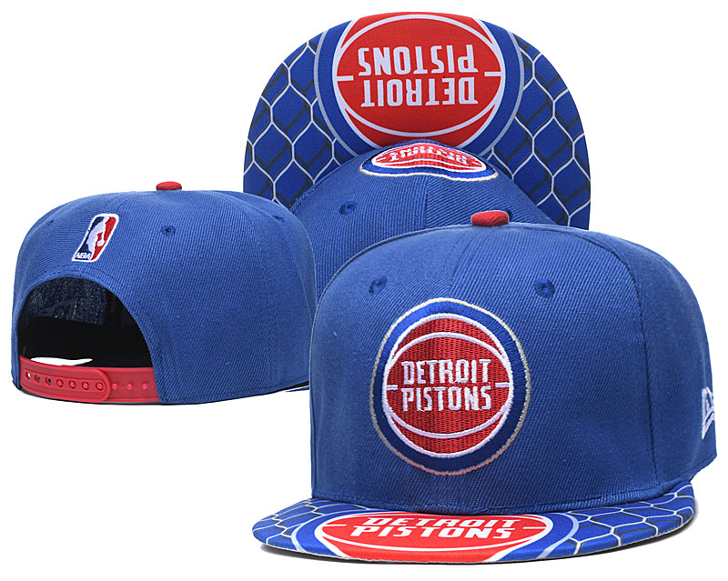 Pistons Team Logo Blue Adjustable Hat TX