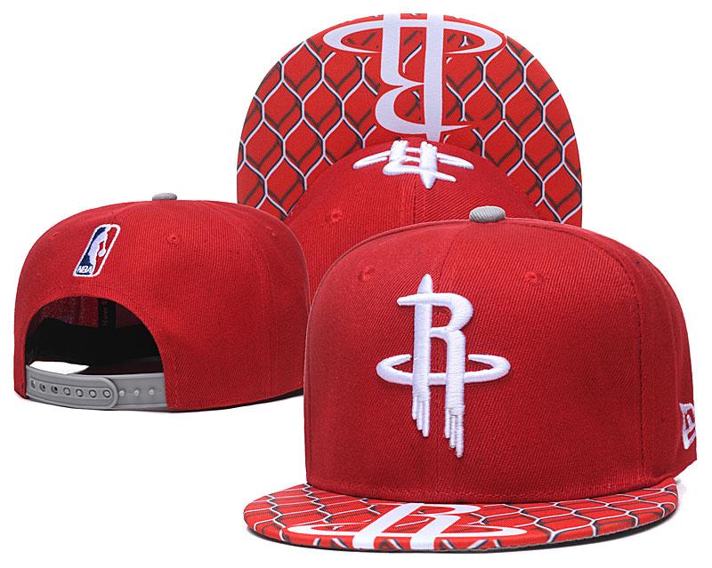 Rockets Team Logo Red Adjustable Hat TX