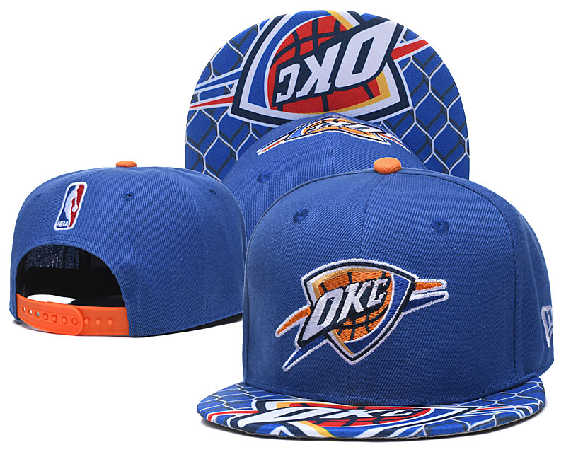 Thunder Team Logo Blue Adjustable Hat TX
