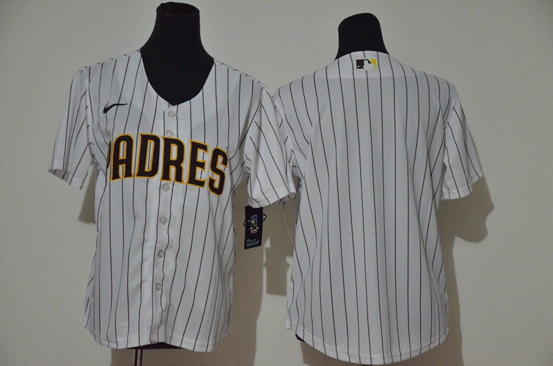Padres Blank White Youth Cool Base Jersey