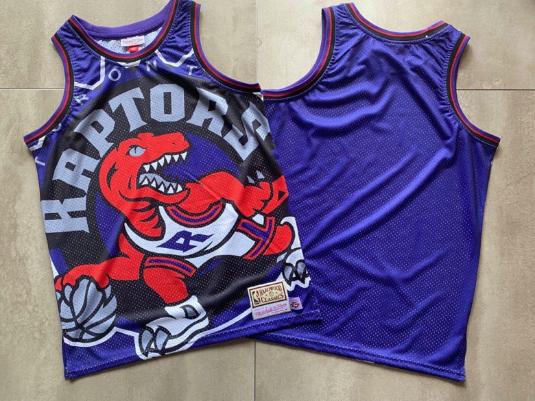 Raptors Big Face Purple Hardwood Classics Swingman Jersey