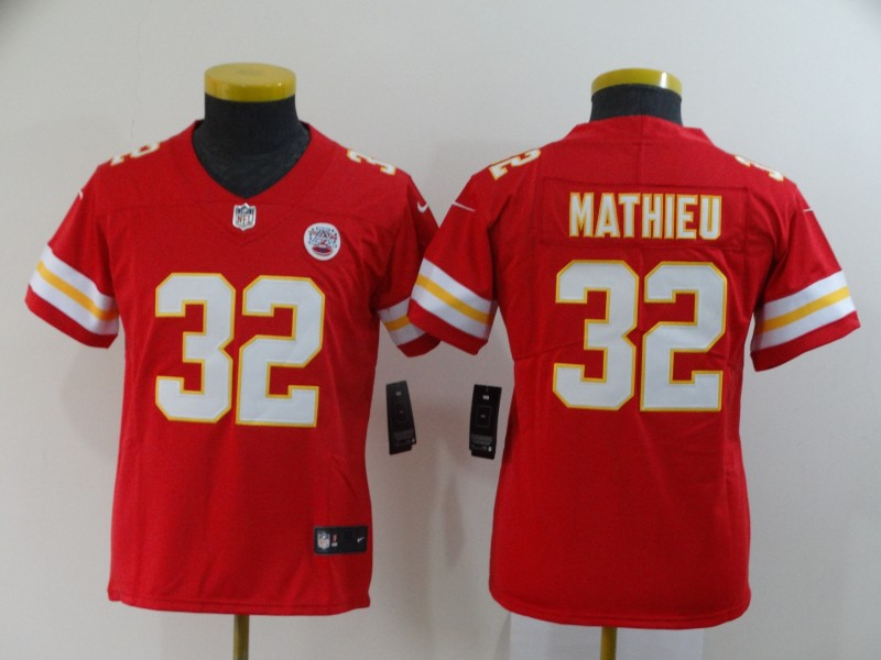 Nike Chiefs 32 Tyrann Mathieu Red Youth Vapor Untouchable Limited Jersey