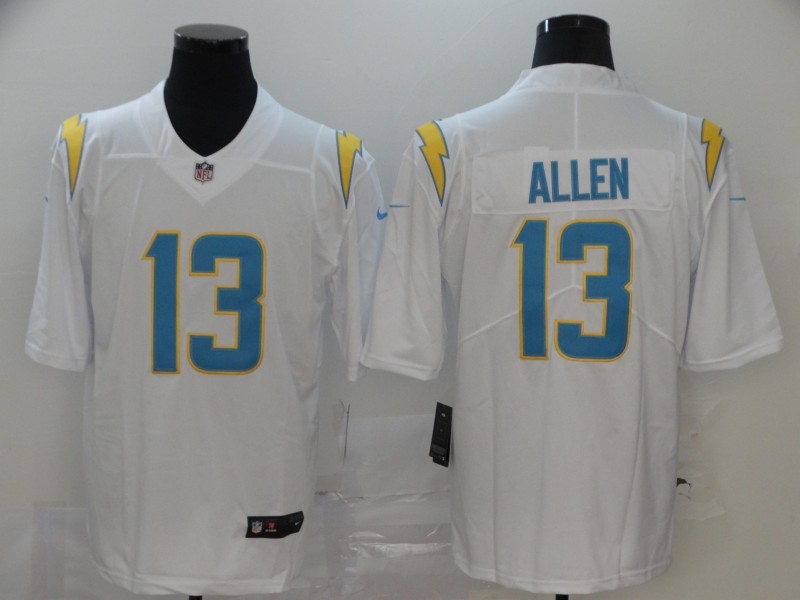 Nike Chargers 13 Keenan Allen White 2020 New Vapor Untouchable Limited Jersey
