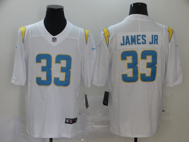 Nike Chargers 33 Derwin James White 2020 New Light Vapor Untouchable Limited Jersey