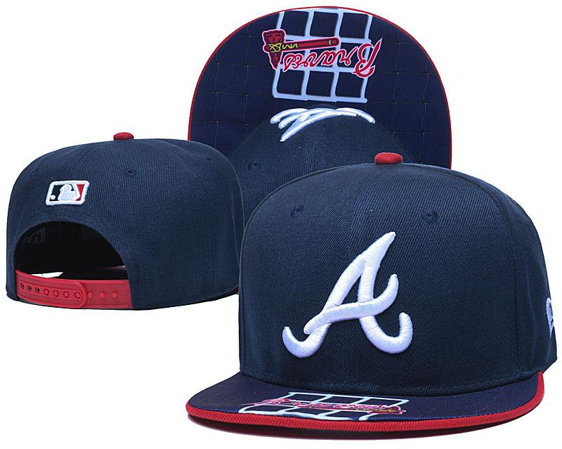 Braves Team Logo Navy Adjustable Hat TX