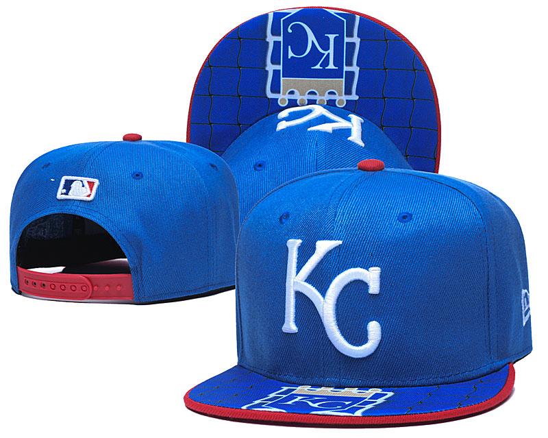 Royals Team Logo Blue Adjustable Hat TX
