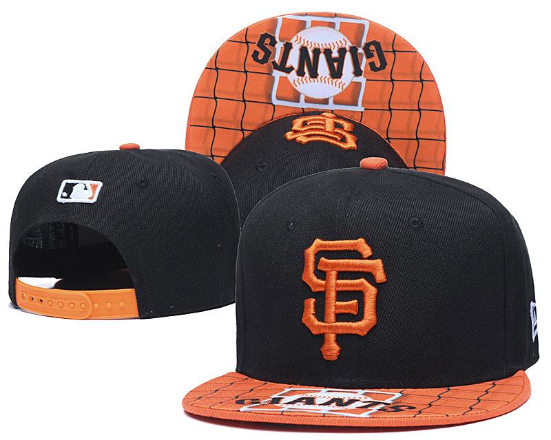 San Francisco Giants Team Logo Black Adjustable Hat TX
