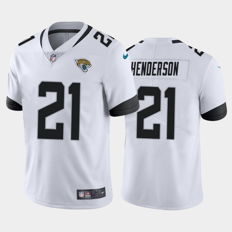 Nike Jaguars 21 C.J. Henderson White 2020 NFL Draft First Round Pick Vapor Untouchable Limited Jersey