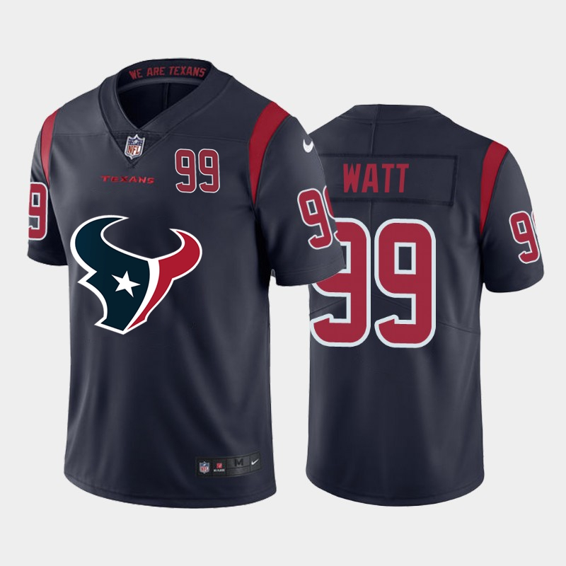 Nike Texans 99 J.J. Watt Navy Team Big Logo Number Color Rush Limited Jersey