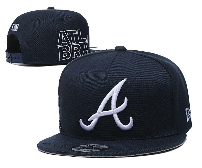 Braves Fresh Logo Navy Adjustable Hat YD