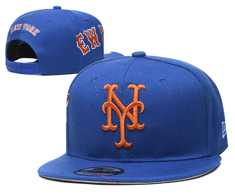Mets Team Logo Royal Adjustable Hat YD