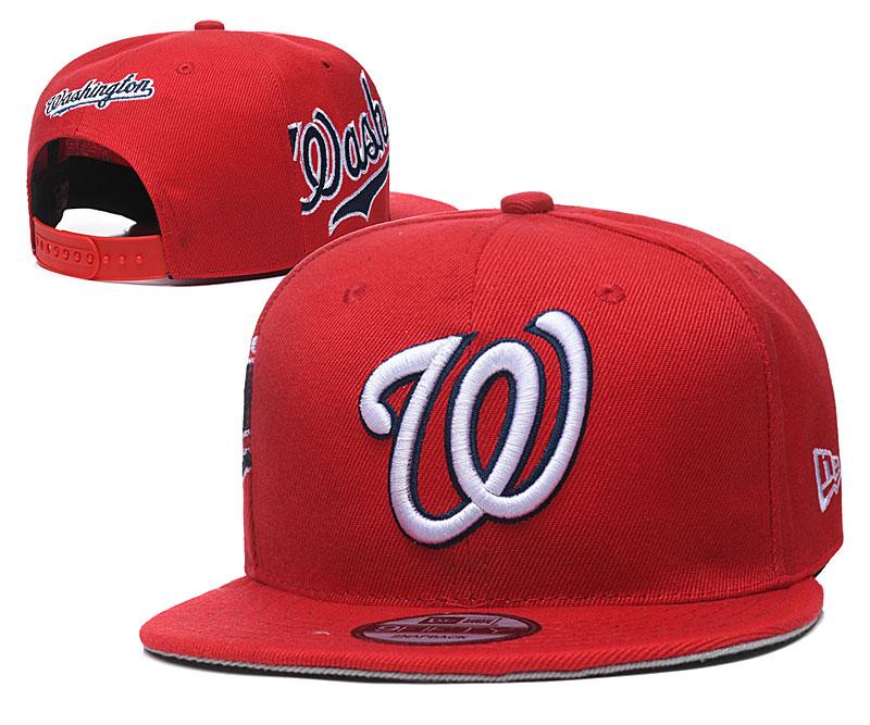 Nationals Team Logo Red Adjustable Hat YD