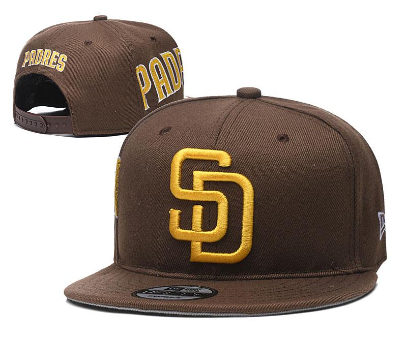 Padres Team Logo Brown Adjustable Hat YD