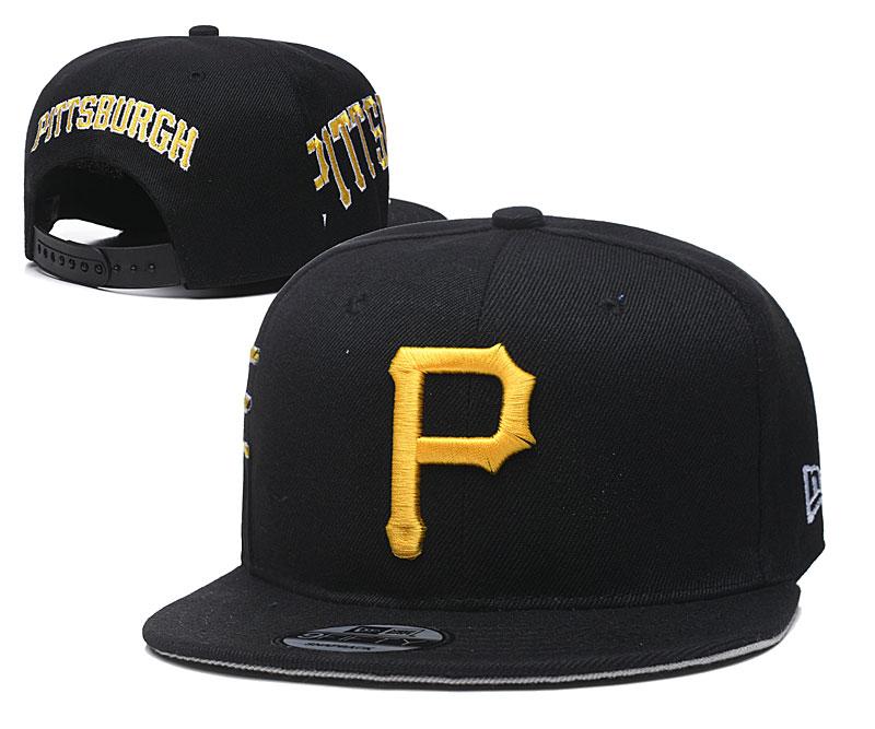 Pirates Team Logo Black Adjustable Hat YD