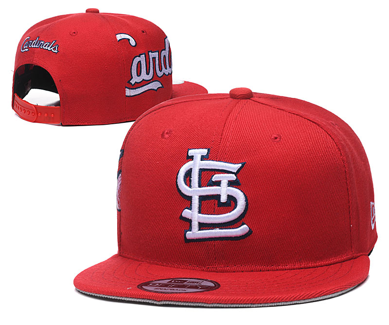 St. Louis Cardinals Fresh Logo Red Adjustable Hat YD