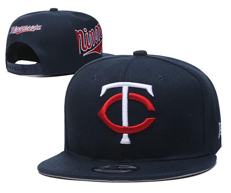 Twins Team Logo Navy Adjustable Hat YD