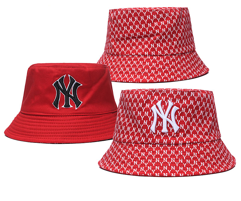 Yankees Team Logo Red Double Side Wide Brim Hat SG