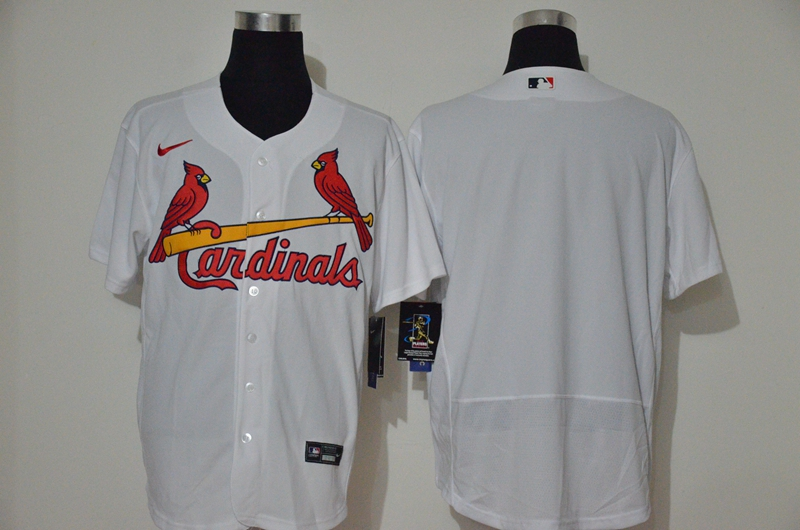Cardinals Blank White Nike 2020 Cool Base Jersey