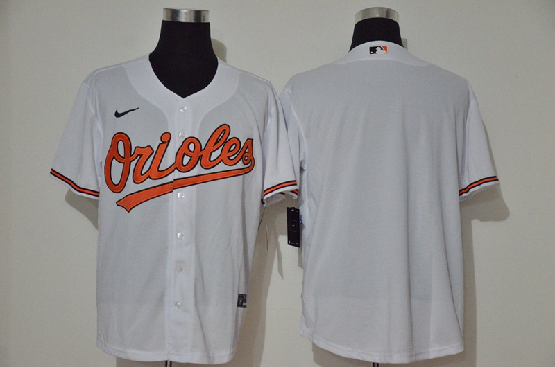 Orioles Blank White Nike 2020 Cool Base Jersey