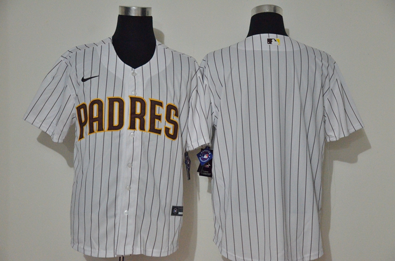 Padres Blank White Nike 2020 Cool Base Jersey