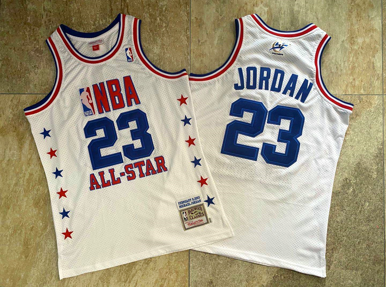 Bulls 23 Michael Jordan White 2003 All-Star Hardwood Classics Jersey