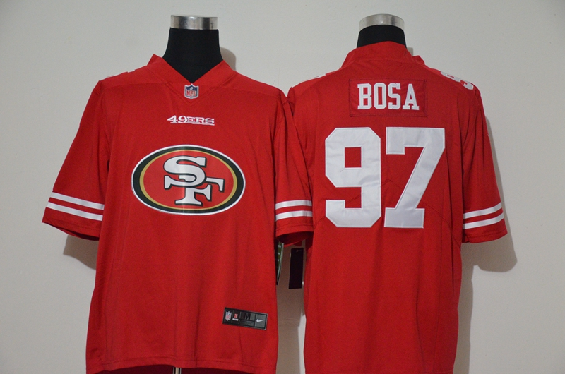 Nike 49ers 97 Nick Bosa Red Vapor Untouchable Limited Jersey
