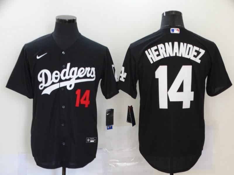Dodgers 14 Enrique Hernandez Black 2020 Nike Cool Base Jersey