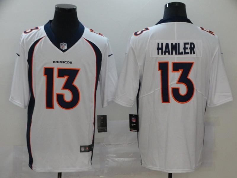 Nike Broncos 13 KJ Hamler White 2020 NFL Draft Vapor Untouchable Limited Jersey