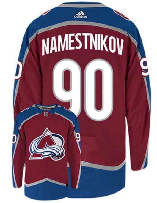 Avalanche 90 Vladislav Namestnikov Red Adidas Jersey