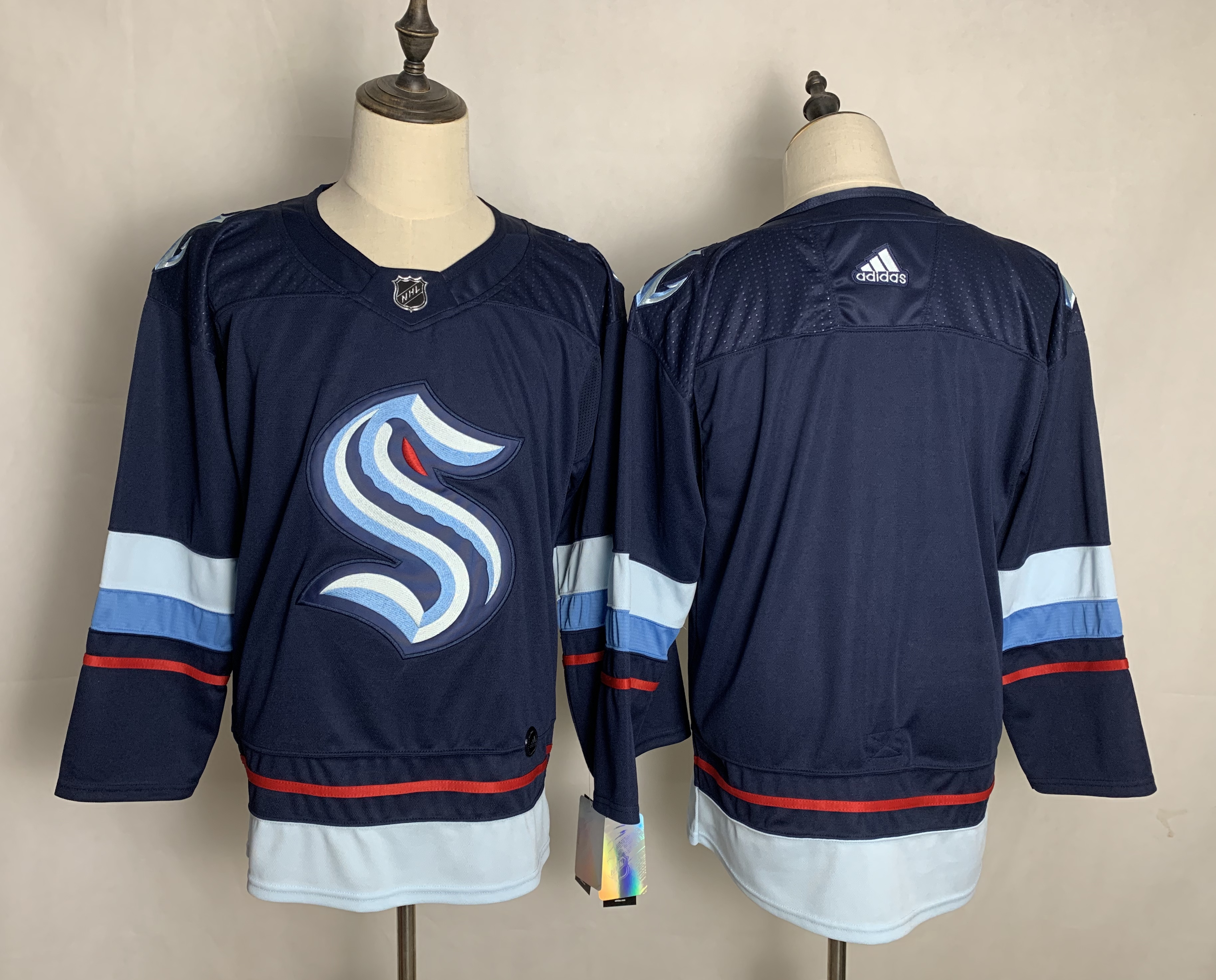 Seattle Kraken Blank Navy Adidas Jersey