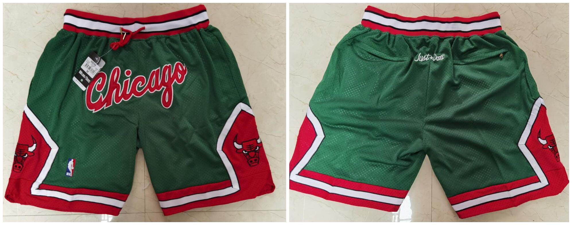 Bulls Green Just Don With Pocket Swingman Shorts