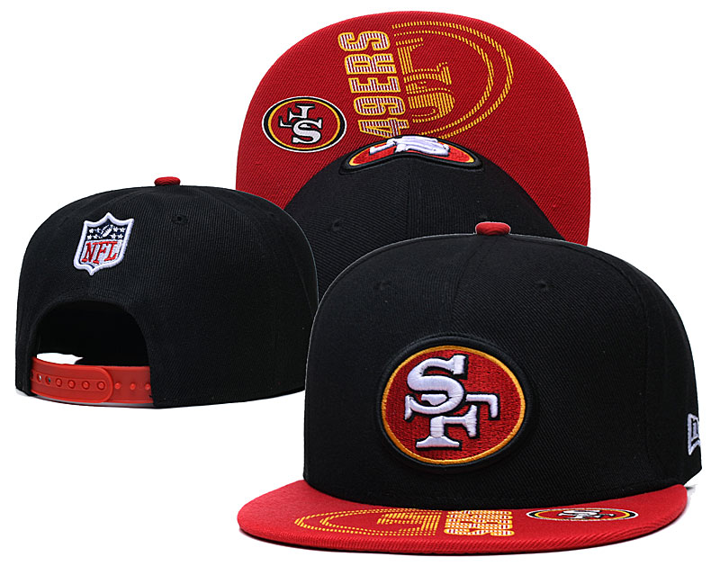49ers Team Logo Black Adjustable Hat GS
