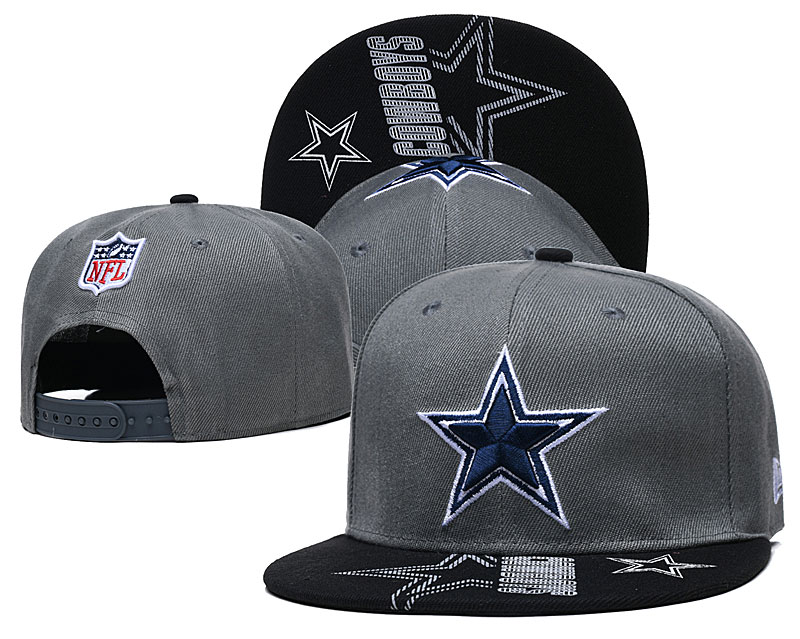 Cowboys Team Logo Gray Adjustable Hat GS