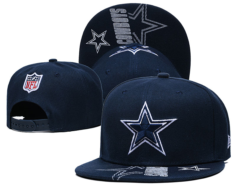Cowboys Team Logo Navy Adjustable Hat GS