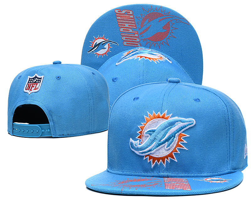 Dolphins Team Logo Blue Adjustable Hat GS