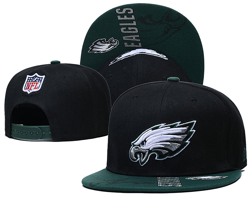 Eagles Team Logo Black Adjustable Hat GS