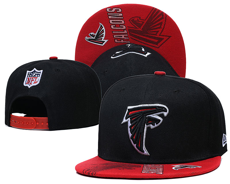 Falcons Team Logo Black Adjustable Hat GS