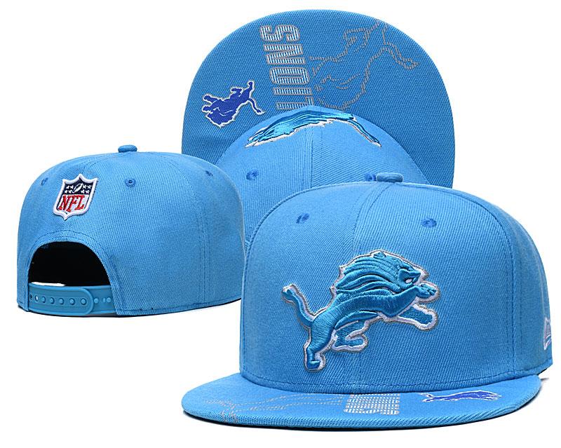 Lions Team Logo Blue Adjustable Hat GS