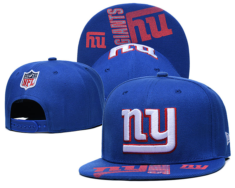 New York Giants Team Logo Royal Adjustable Hat GS