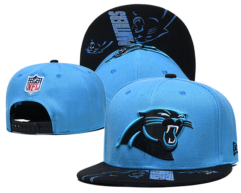 Panthers Team Logo Blue Adjustable Hat GS