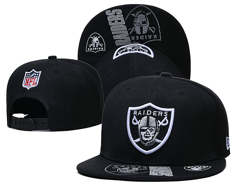 Raiders Team Logo Black Adjustable Hat GS