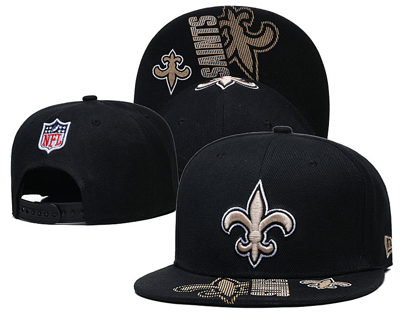 Saints Team Logo Black Adjustable Hat GS