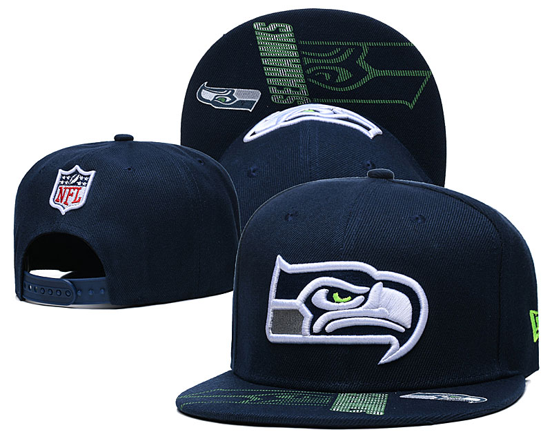 Seahawks Team Logo Navy Adjustable Hat GS