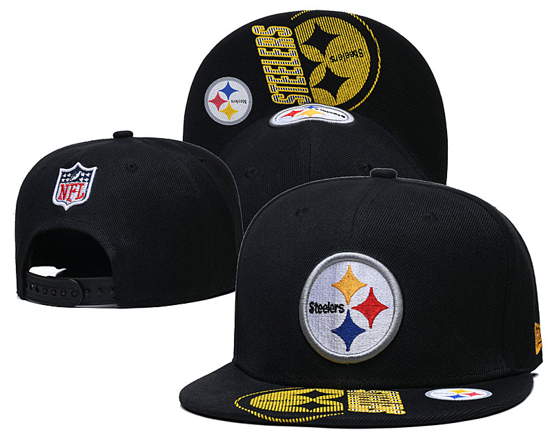 Steelers Team Logo Black Adjustable Hat GS