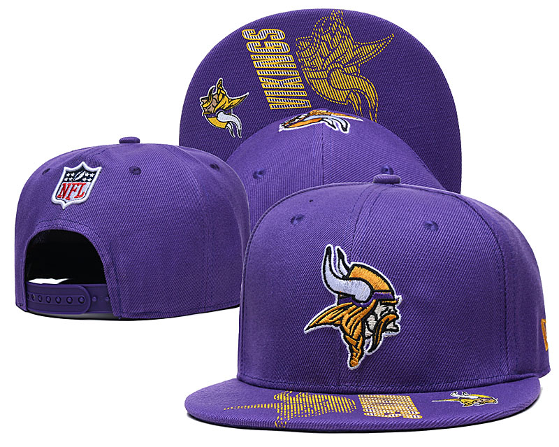 Vikings Team Logo Purple Adjustable Hat GS