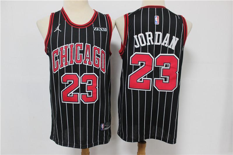 Bulls 23 Michael Jordan Black 2020 Swingman Jersey