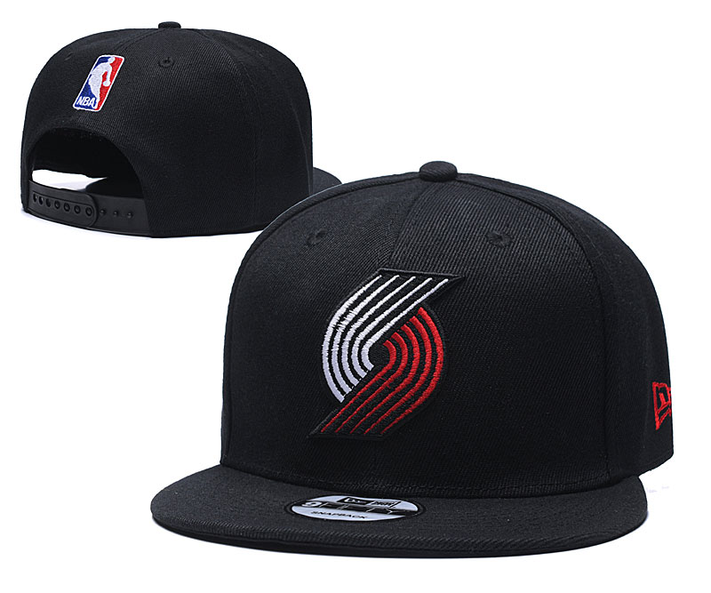 Blazers Team Logo Black Adjustable Hat TX